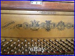 CHICKERING UPRIGHT Cabinet Grand PIANO VINTAGE CIRCA 1894
