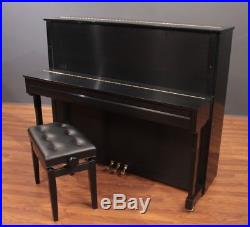 C. Bechstein Academy A124 50'' Upright Piano 2018 Satin Ebony