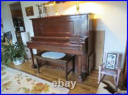 Cable Nelson Upright Piano Serial 113923 Circa 1918/19 Antique Vintage Quality