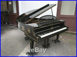 Challen & Sons Flügel Klavier grand piano, Laquered Chinoiserie, Japanoiserie