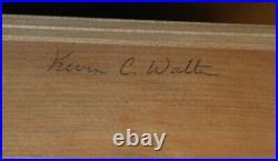 Charles R Walter Studio Piano Traditional Style, Mahogany, 1991 Model 353