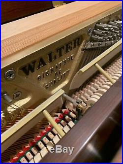 Charles Walter Console Piano With Bench. Pristine Condition