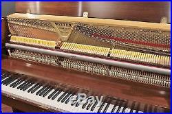 Charles Walter Studio Walnut 45'' Upright Piano
