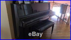 Daewoo Sojin Black Upright Piano