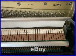 Excellent KAWAI K-200 45 Upright Acoustic Piano (2016, Polished Ebony)