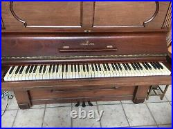 Fabulous 1887 STEINWAY Upright Piano Works and Sounds Great! S/N 61655