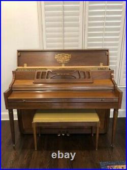HEIRLOOM Kimball Upright Piano, Artist Console, Genuine Walnut -Great Condition