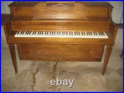 Hallet, Davis & Company Piano Company Upright Piano & Storage Bench Beautiful EC