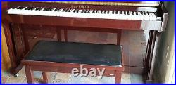 Henry F Miller Upright Piano, Mohahony With Matching Bench. Model Up 118M