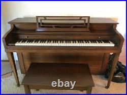 Henry F Miller Walnut Piano