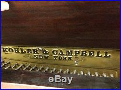 Htf 1907 Kohler & Campbell New York Upright Piano Antique Serial 89813 As Found