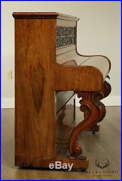 J. B. Cramer & Co. Antique Burl Wood Upright Piano