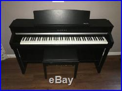 Kawai CA78 Satin Black Digital Upright Piano 56