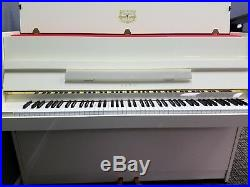 Kawai CX-5 Polished White 42 Upright Piano (Pre-Owned) Mfg 1989 in Japan