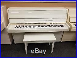 Kawai CX-5 Polished White (Pre-Owned) Mfg 1989 in Japan 42 Upright Piano