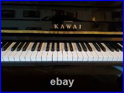 Kawai Ebony Upright Piano & Bench, Perect Condition