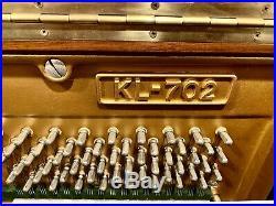Kawai KL-702 Tall Upright Piano 52 Polished Walnut