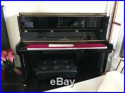 Kawai K-3 Upright Piano, black Ebony