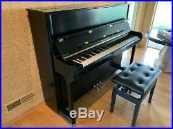 Kawai K-3 Upright Piano in Black Ebony MINT