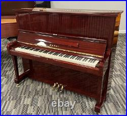 Kawai K-50E 49 Upright Piano Picarzo Pianos Polished Mahogany Model
