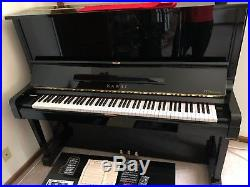 Kawai VT132 Upright 52 Piano Ebony Polish Perfect Condition Vari-Touch