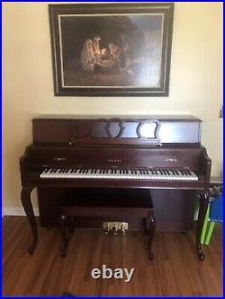 Kawai semi professional 48 Upright piano 606frc Model Number Cherry Color