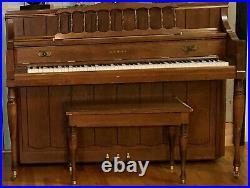 Kawai upright console piano & piano bench