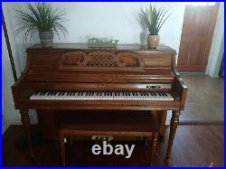 Kimball 42 Medium Walnut Upright Piano WithBench