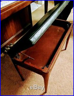 Kimball Spinet Console Piano with Bench, Metronome & Huge Box of Sheet Music