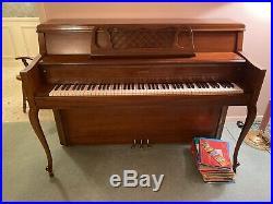 Kimball Upright Artist Console 1960s Piano