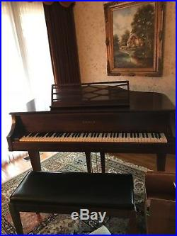 Kimball baby grand piano dark brown with bench beautiful condition