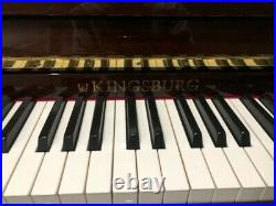 Kingsburg Upright Piano 46 LM116WP + stool Excellent Condition, Bought new