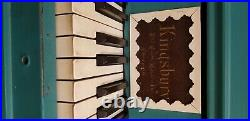 Kingsbury (the Cable Company) Upright Piano (Painted Teal)
