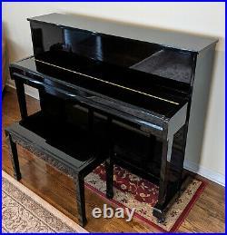 Kohler & Campbell KC-112 44 Upright Piano with Matching Bench, Shinning Ebony
