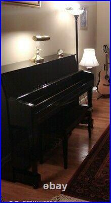 Kohler and Campbell Ebony black Upright Piano