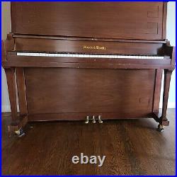MASON & HAMLIN upright 50 PIANO walnut tuned with bench Pianoforte 50 studio pro