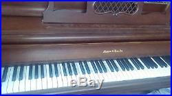 Mason & Hamlin Mahogany Console upright piano
