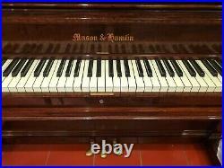 Mason & Hamlin Model O, Upright Piano, 56 High, Restrung, Refinished, Rehammered