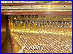 Mason & Hamlin Upright Piano, Mahogany, USA Made, Big Sound, Tuned, Plays Great