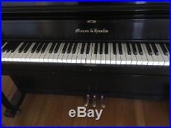 Mason hamlin 1977 upright piano, good condition