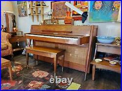 Mid Century Baldwin Acrosonic Piano 1960s Danish Modern Style