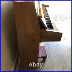 Mid Century Modern 1969 Rippen Of Holland Satin Mahogany Upright Piano Vintage