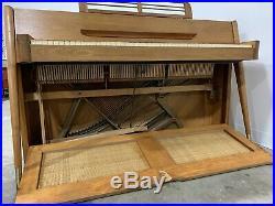 Mid Century Modern Piano Baldwin Acrosonic With Stool