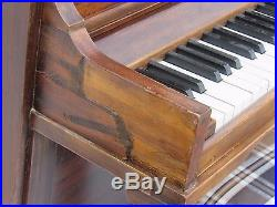 Minipiano Tom Thumb Upright Vintage Wurlitzer 61 Key Spinet Piano Art Deco Piano