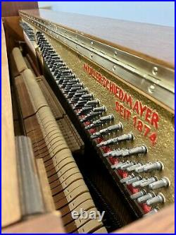 Muller-Schiedmayer Upright Piano 43 1/2 Satin Walnut