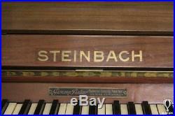 Originale Antico Pianoforte Verticale Steinbach Primi Del 900 Pianobar Epoca