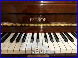 Petrof Studio Upright Piano 46 1/2 Polished Walnut