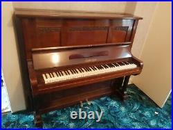 Piano Quality Heavy Duty On Casters Euterpe 5 (5256) Upright Piano. 3 Black