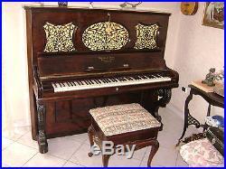 Pianoforte D'epoca Del 1865 Steinway Verticale Vintage Perfetto