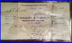 Price Lowered1899 Hardman & Peck Piano Orig. 1902 Receipt Shown Pu Sf Bay Area